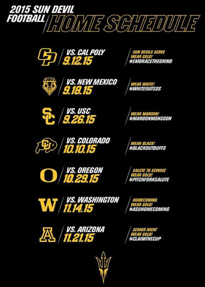 Image Result For Asu Football Schedule